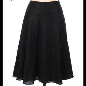 Ralph Lauren Linen Skirt Fully Lined Black 10